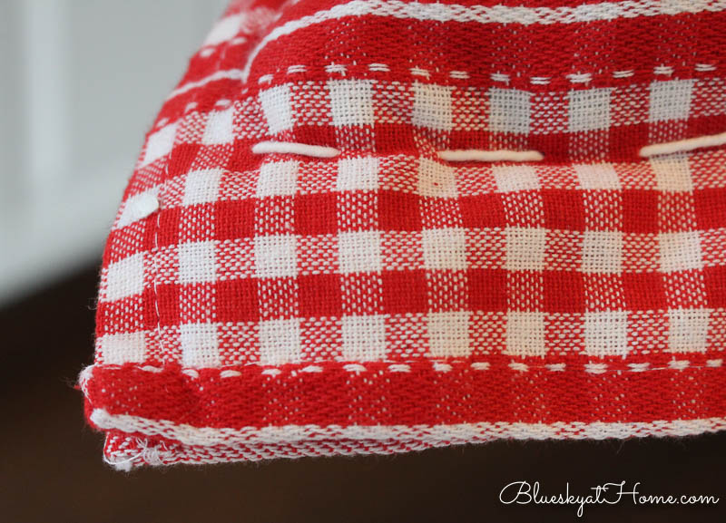 no~sew pillow with flange
