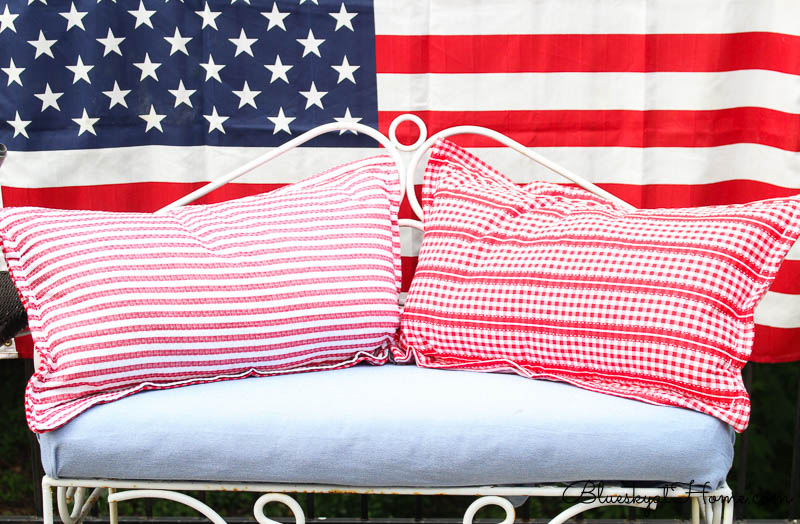 4th of July vignette pillows