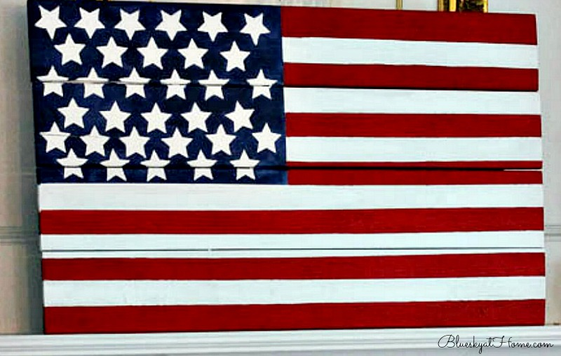 DIY painted American flag