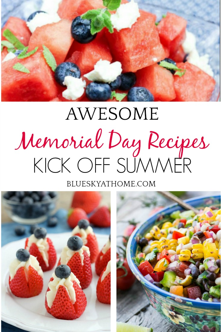 Awesome Memorial Day Recipes Kick Off Summer graphic