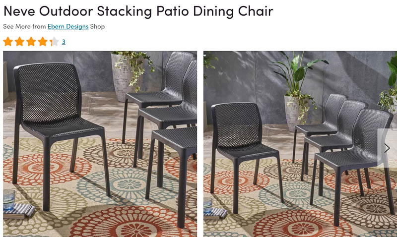 Neve Patio Dining Chairs