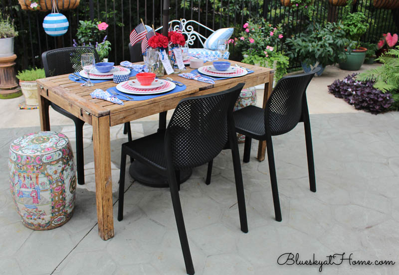 patio table with new chairs from Wayfair