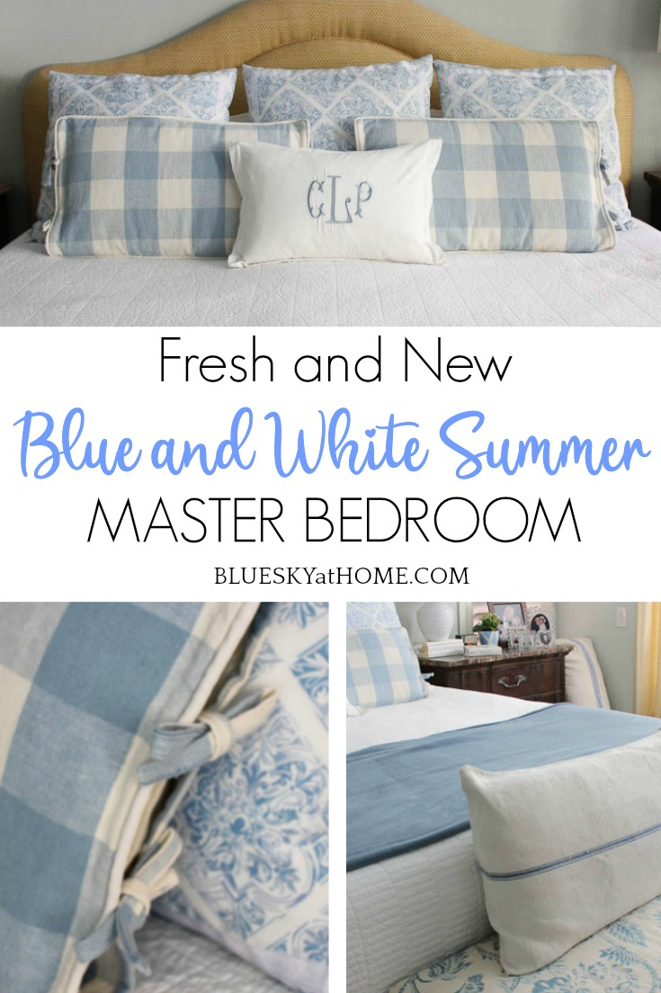 Blue And White Summer Master Bedroom Bluesky At Home