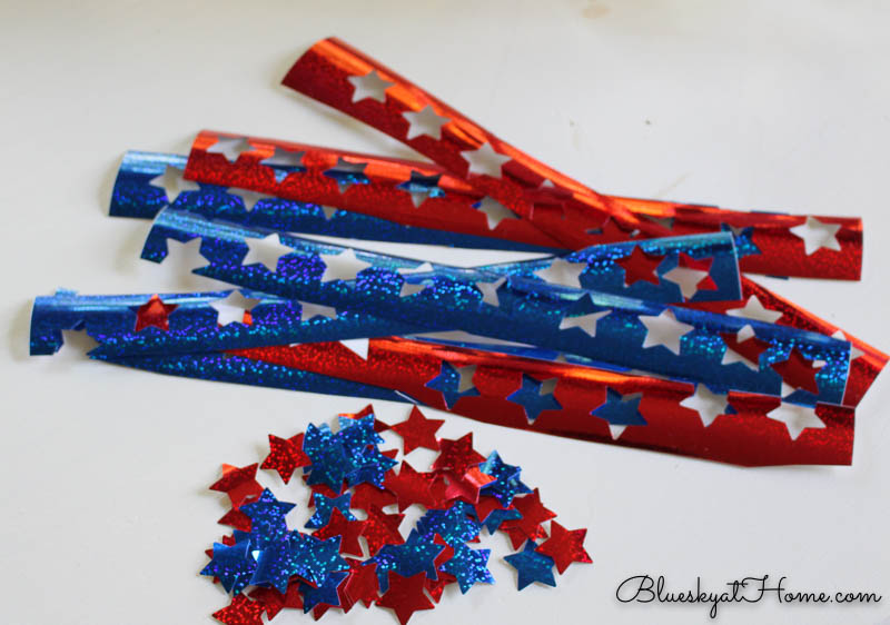 red and blue vinyl stars