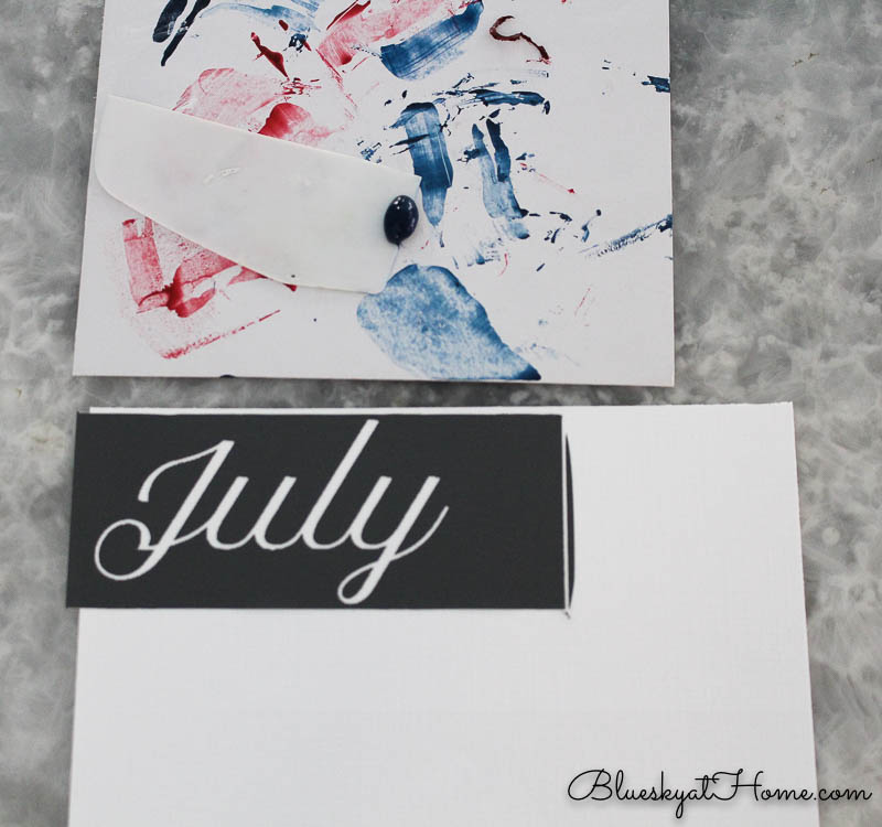 making patriotic project with stenciled tags