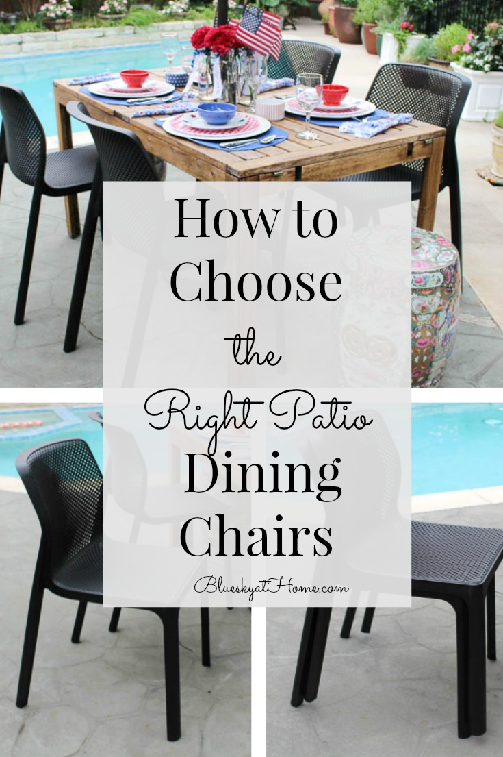 how to choose the right patio dining chairs graphic