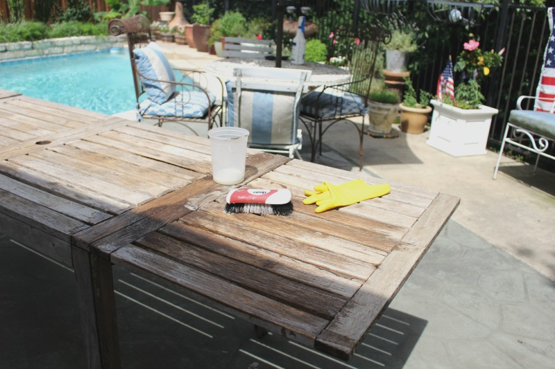 cleaning teak table