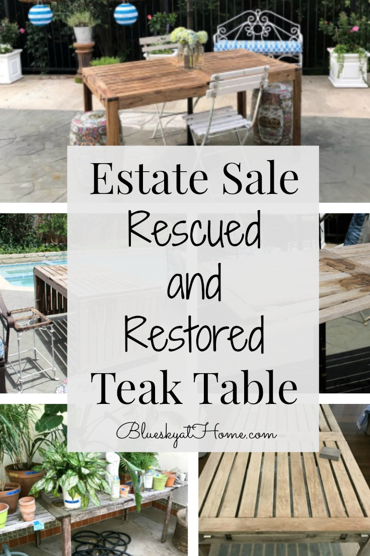 rescued restored teak table graphic