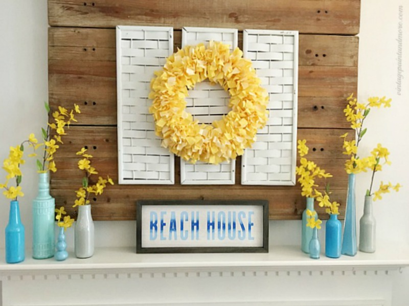 summer mantle with yellow wreath
