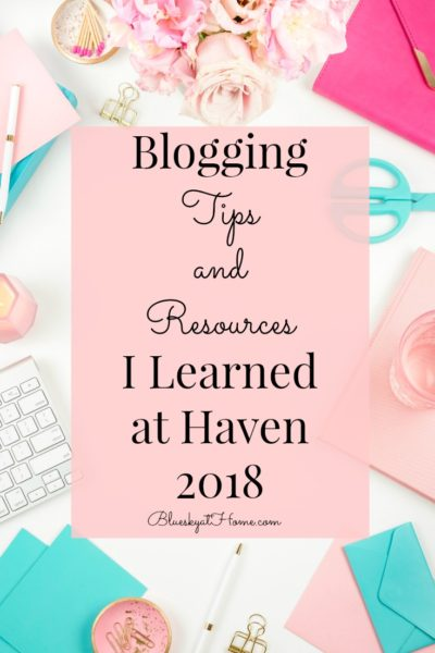 Blogging Tips and Resources graphic