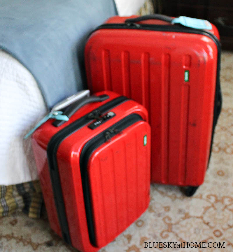 red suitcases