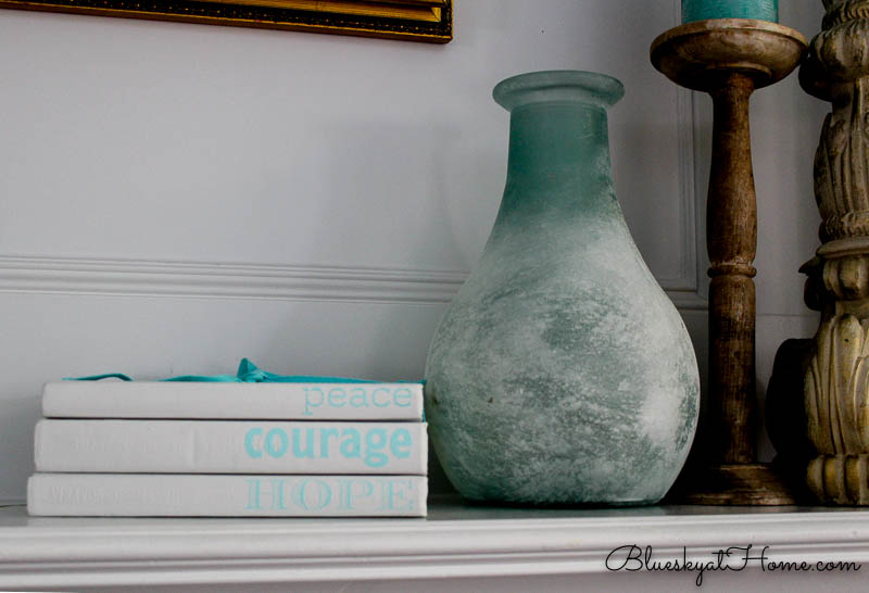 books and vase