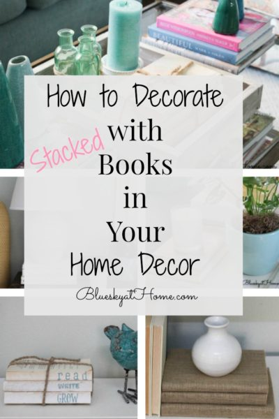 how to decorate with books graphic