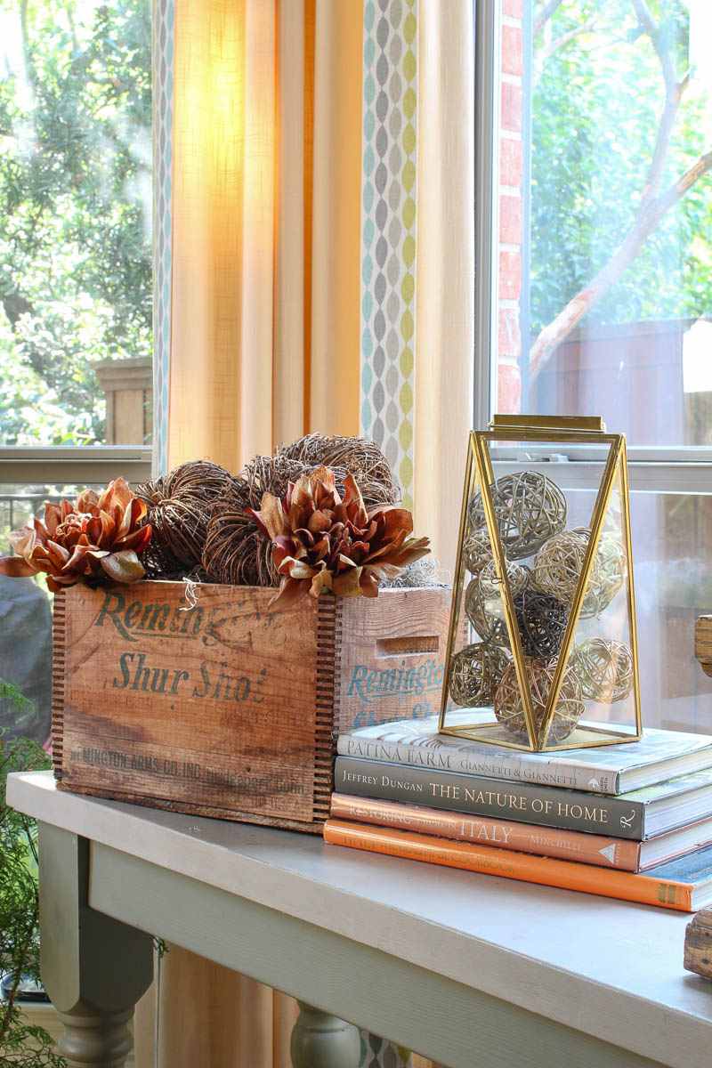 reused and restyle twig pumpkins and flower napkin rings