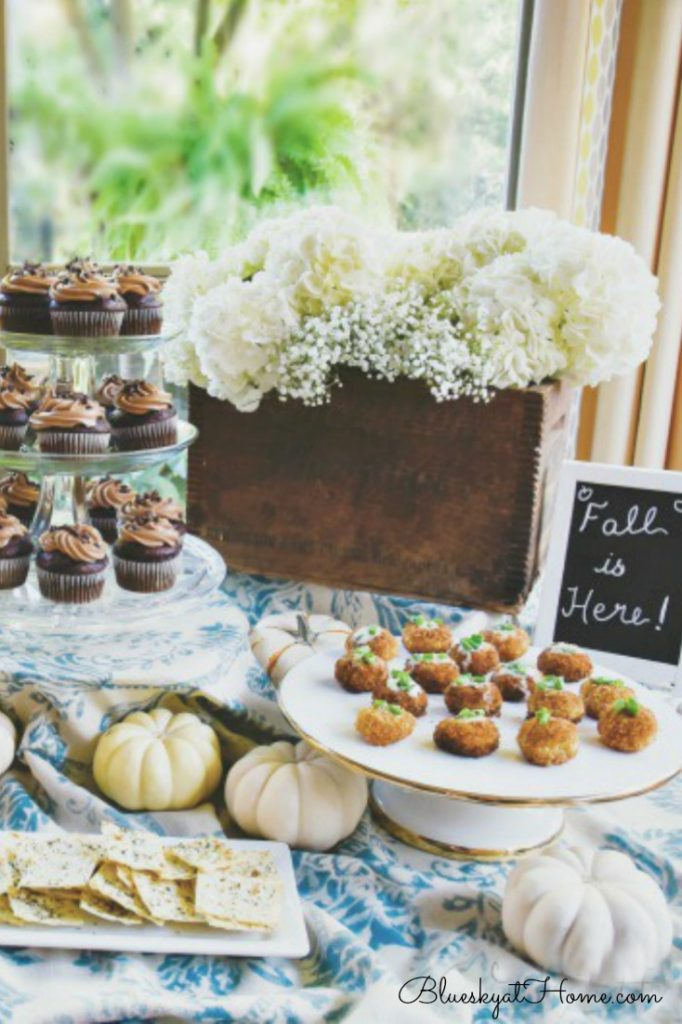 Buffet table for casual fall party