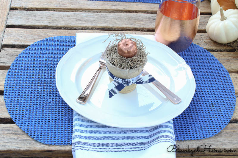 fall patio tablescape place settings