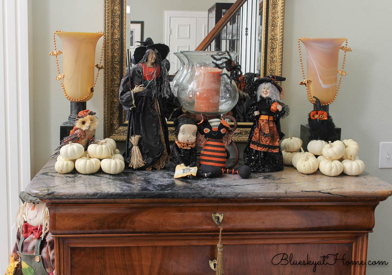 Halloween witches on entry