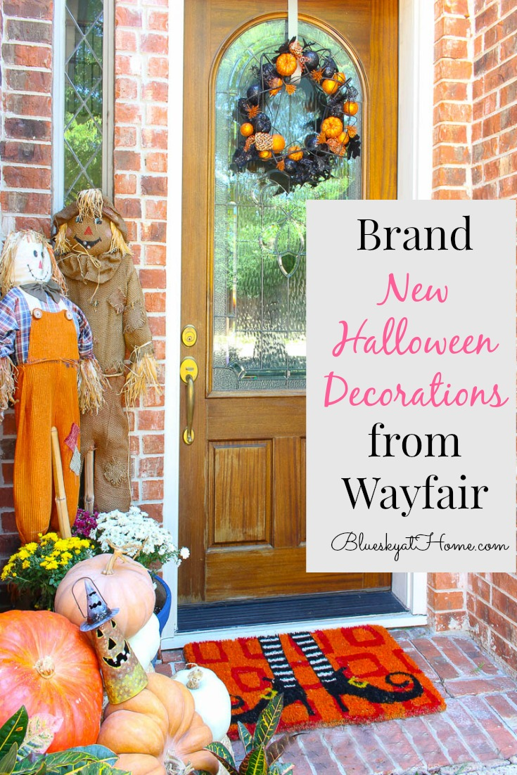 brand new Halloween Decorations from Wayfair graphic