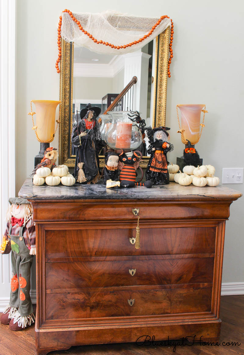 Halloween decorations in entry