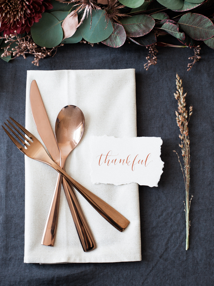 Thanksgiving place setting from Lindsey Brunk