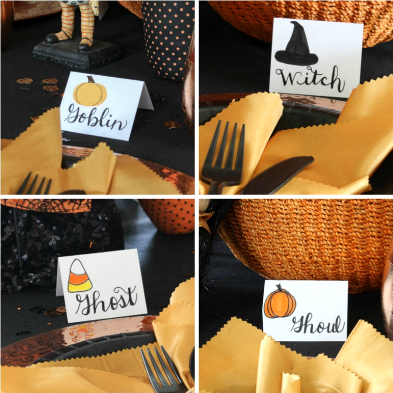 4 place card collage