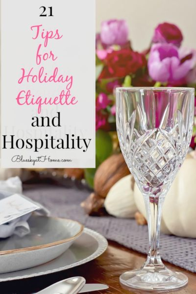 holiday etiquette and hospitality