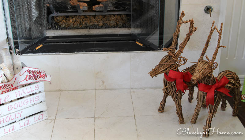 twig reindeer with red bows