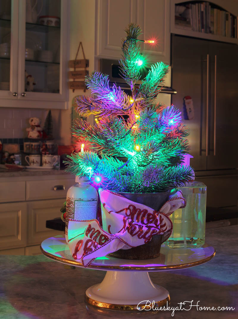 Christmas vignette with lights