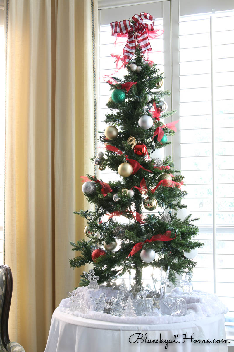 Christmas tree in the Master Bedroom