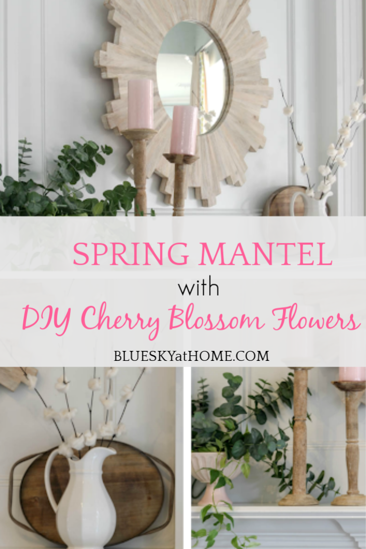 DIY Cherry Blossom Flowers for Your Spring Mantel graphic
