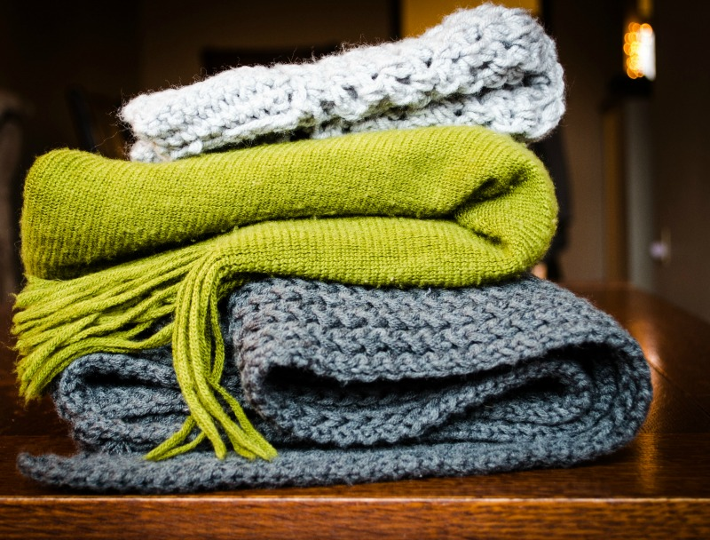stack of blankets