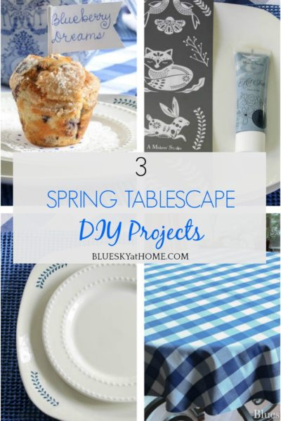 3 Spring Tablescape DIY Projects graphic