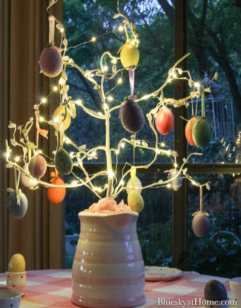 Easter tree at night