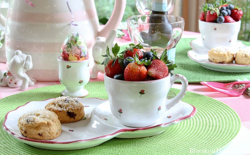 cup of strawberries and blueberries