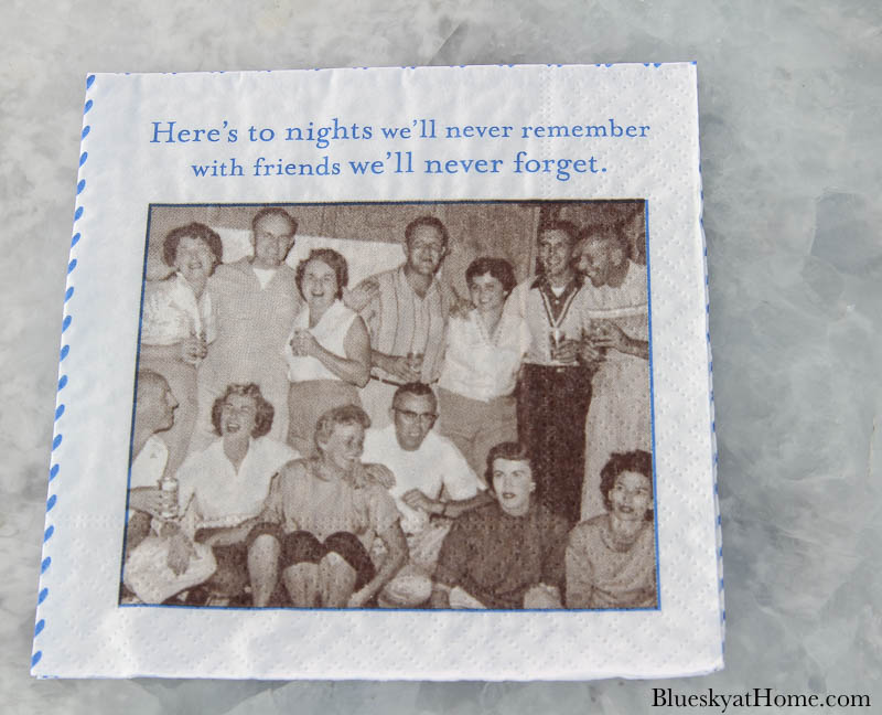 picture of people on paper napkin