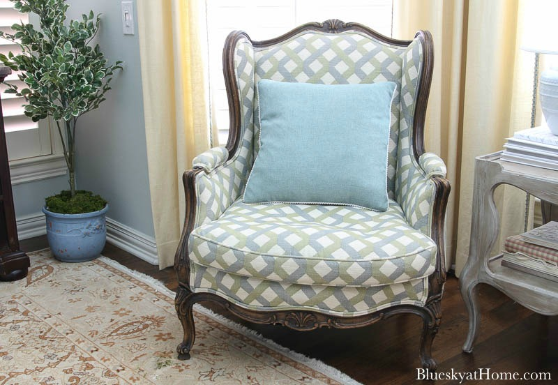 chair in master bedroom