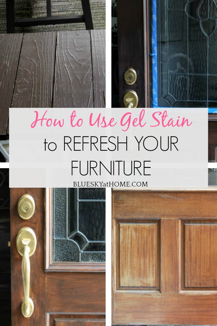How to Use Gel Stain to Refresh Your Furniture graphic