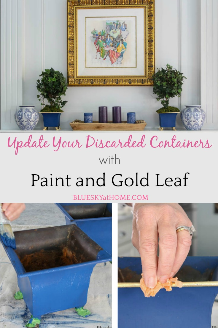 How to Update Discarded Containers with Paint and Gold Leaf graphic