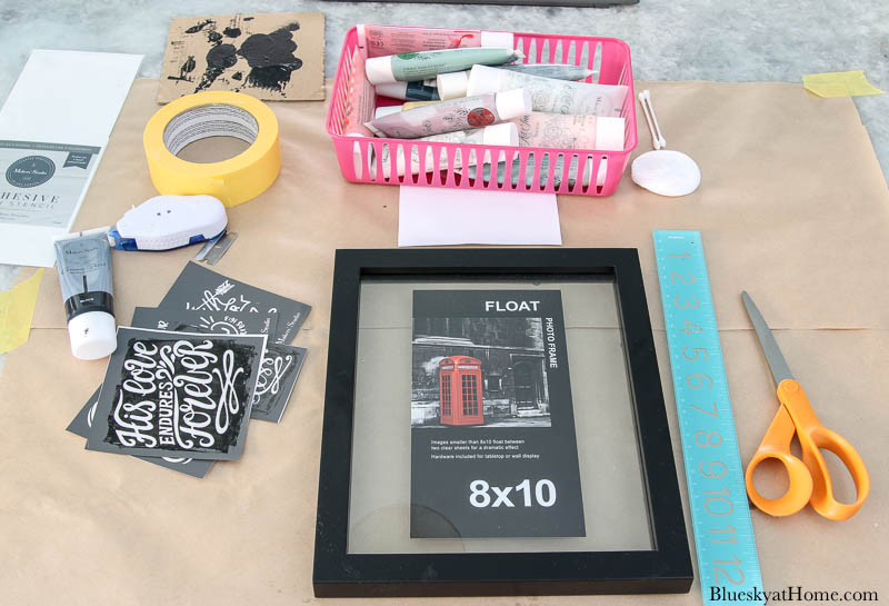 supplies for painting stencil on glass