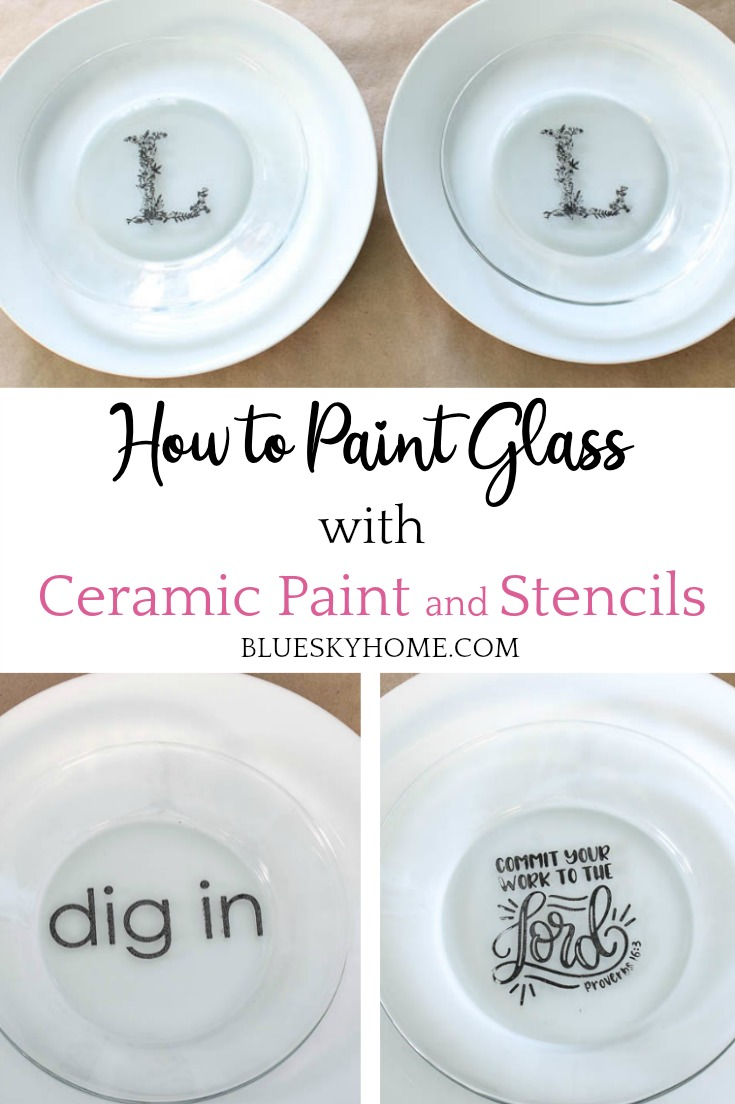 painted glass with ceramic paint