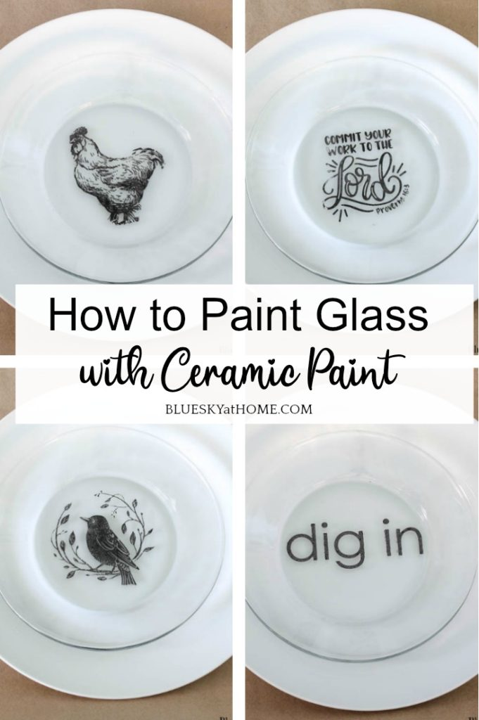 how to paint glass with ceramic paint