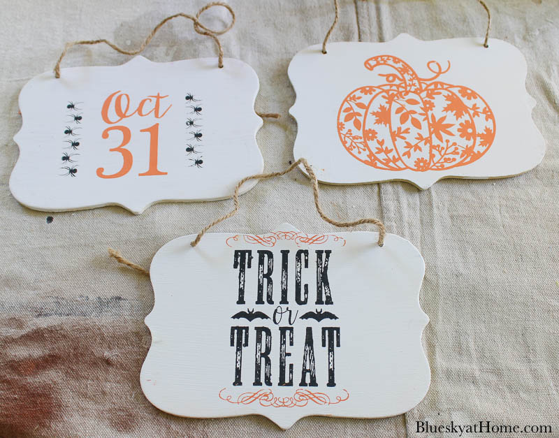 paint and stencil Halloween signs