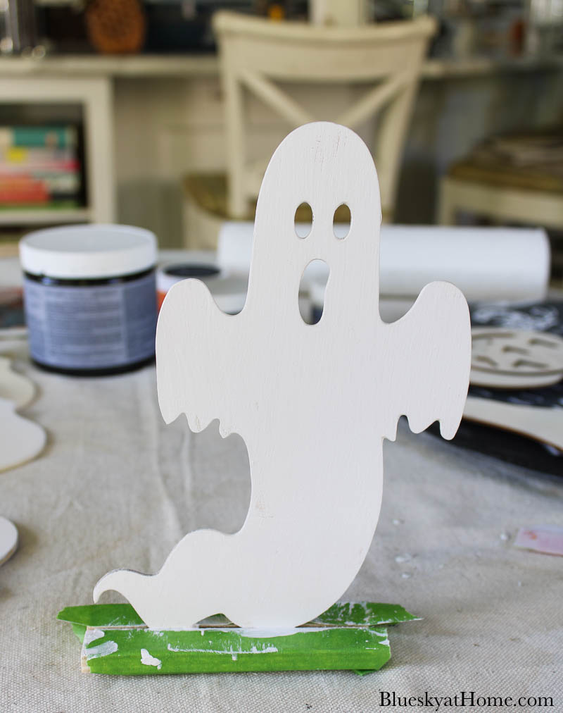 white-painted ghost