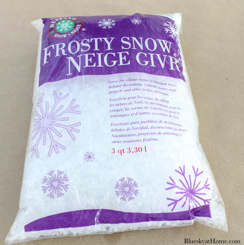 package of faux snow