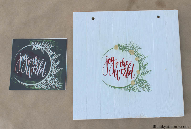 stencils for wood Christmas signs