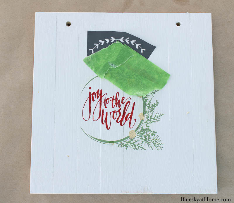 stencil for wood Christmas signs