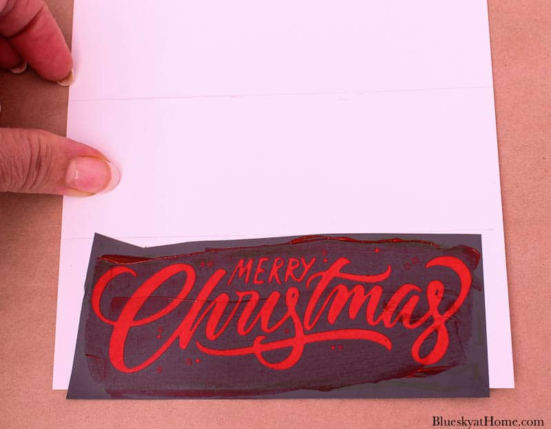 Merry Christmas stencil on paper