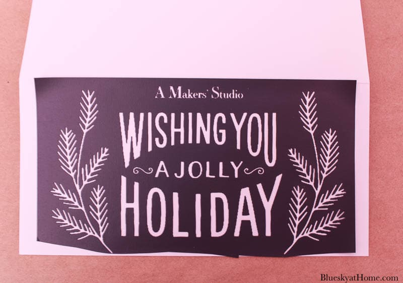 stenciling Christmas cards