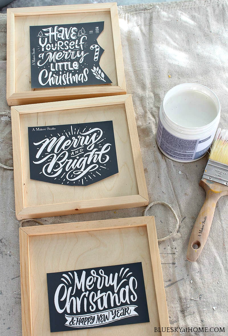 Christmas stencil for Christmas signs
