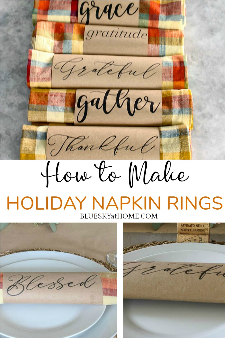 How To Make Napkin Rings For Your Holiday Table Bluesky At Home